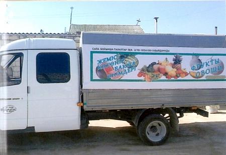 Список установленных в Актау торговых палаток с продукцией местных крестьянских хозяйств