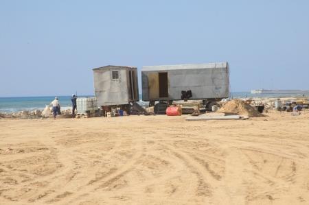 Прораб стройки отказался рассказывать о новой набережной в 15 микрорайоне Актау