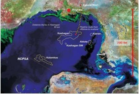 Fitch: Начало добычи на Кашагане способствует восстановлению экономики Казахстана.