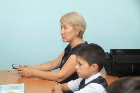 В школе-лицее №7 Актау дети осваивали правила дорожного движения