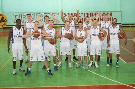 Баскетбольный клуб «Каспий» сыграет с украинскими командами