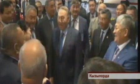 Нурсултан Назарбаев покинул Кызылорду с песней