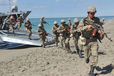 В Каспийском море закончились военные учения ВМС Казахстана «Шағала-2013»
