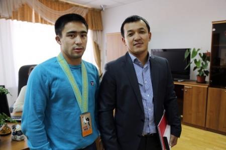 Аким Актау встретился с серебряным призером мирового гран-при по дзюдо Айбеком Имашевым