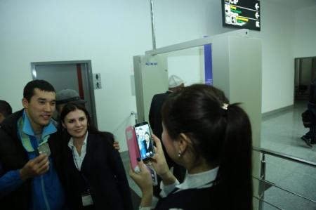 В актауском аэропорту встретили призеров чемпионата мира по боксу Адильбека Ниязымбетова и Берика Абдрахманова