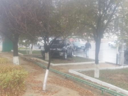Авария у Ботанического сада Актау