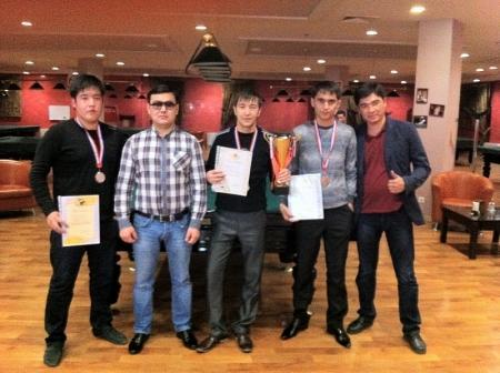 В Актау прошел турнир по бильярдному спорту