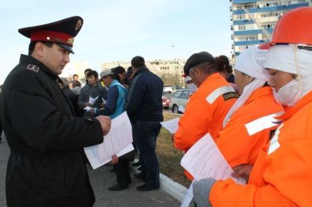 В Актау прошла очередная «Приемная на дороге»
