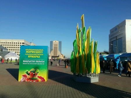 Мангистауская делегация привезла в Астану 10 тонн мяса и 30 тонн овощей
