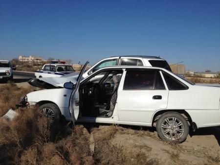 В Актау два человека пострадали в результате дорожной аварии на окраине города