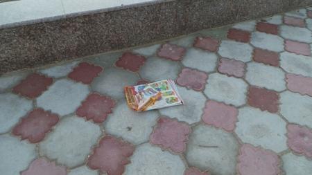 Жители Актау даже в центе города пакостят