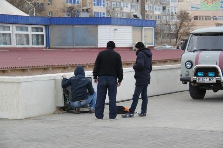 На новой набережной Актау сняли забор