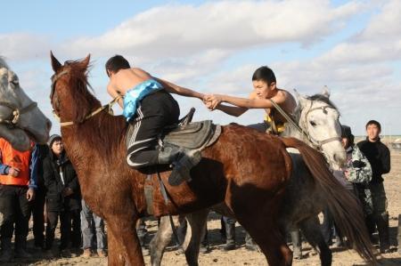 В Актау прошли соревнования по национальным конным видам спорта
