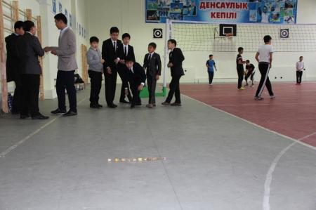 В Казахско-турецком лицее Актау открылась секция национальной игры «Асык»