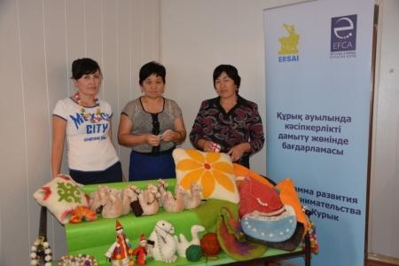 Для жительниц Курыка открылись бесплатные курсы войлоковаляния и изготовления национальных украшений