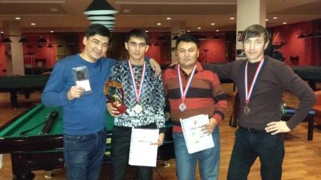 Джамал Джуманиязов выиграл чемпионат Актау по бильярду