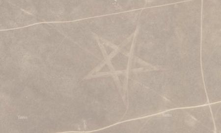 Спутник увидел пентаграмму рядом с Актау