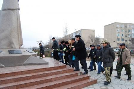 Воины-афганцы Актау почтили память погибших товарищей