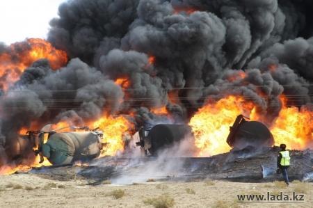 Ущерб от пожара на переезде в Мангистауской области экологи оценили в 120 миллионов тенге