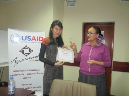 Принципам мониторинга и оценки научили НПО Мангистауской области