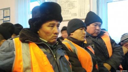Железнодорожники Шетпе выступили с протестом