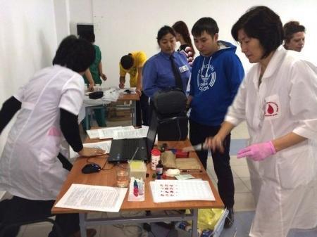 Студенты Актау провели акцию по добровольной сдаче крови