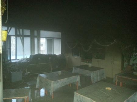 В Актау произошел пожар в детском саду