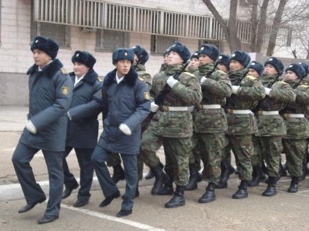 В Актау новобранцы воинской части №6656 приняли присягу