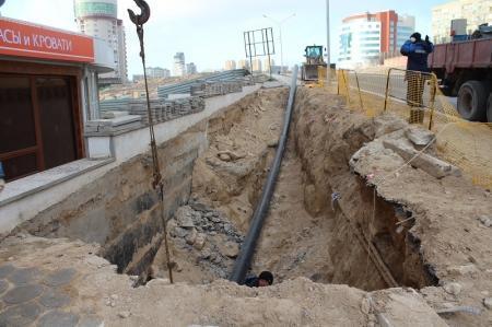 Жители Актау жалуются на последствия работы компаний, занимающихся прокладкой инженерных сетей