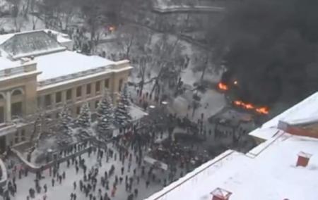 Майдан онлайн: трансляция из центра Киева 22 января