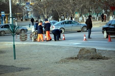 Ыклас Кушербай: Дорожную разметку зимой наносят ради безопасности пешеходов