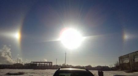 В Атырау наблюдали ложное солнце