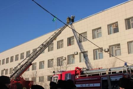 В актауском СИЗО проведены пожарно-тактические учения