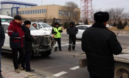 В Актау из-за несоблюдения дистанции за последний месяц допущено более 20 дорожных аварий