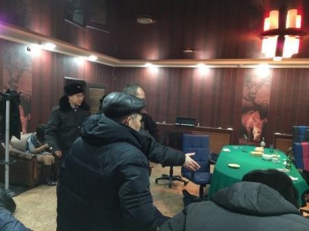 В Актау сегодня ночью прокуратура вместе с УБОП выявила подпольное казино