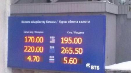 Банки Казахстана продают доллар дороже 200 тенге