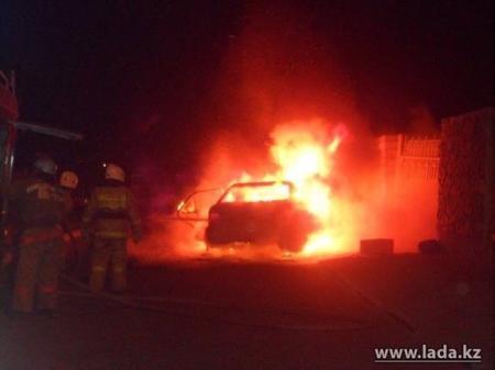 В Мангистау за неделю сгорели четыре автомашины