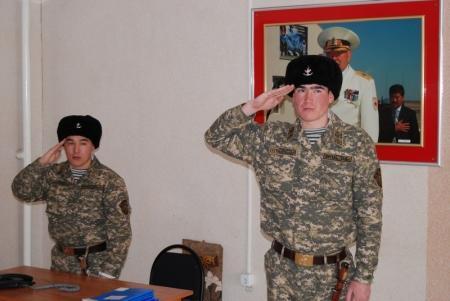 Актауские морпехи отмечают день вывода войск из Афганистана