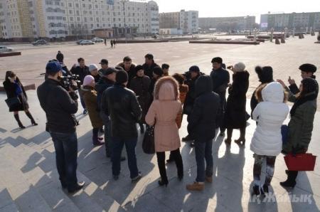 Акция протеста в Атырау