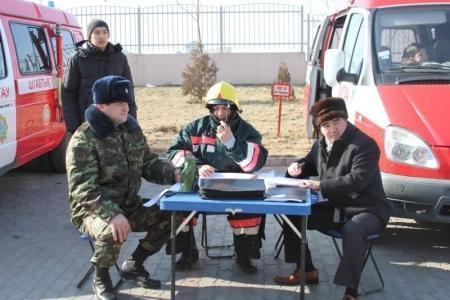 В ТРК «Актау» прошли пожарно-тактические учения