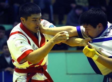 Актауский палуан Мейрамбек Жанабай стал двукратным чемпионом Казахстана