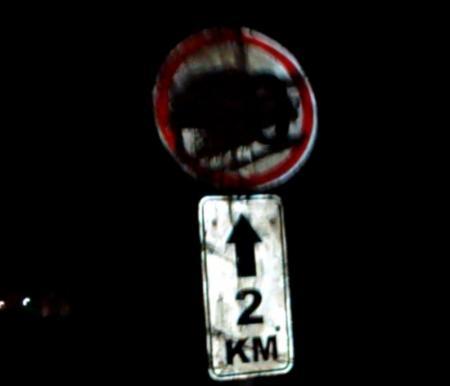 Загадочный знак на дороге и в итоге штраф