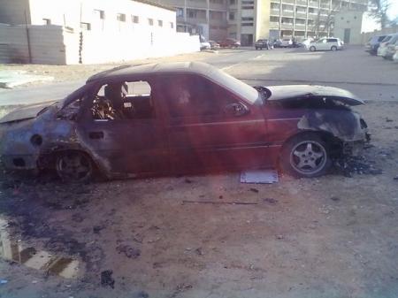 В Актау в 4 микрорайоне полностью сгорел автомобиль «Опель Вектра»