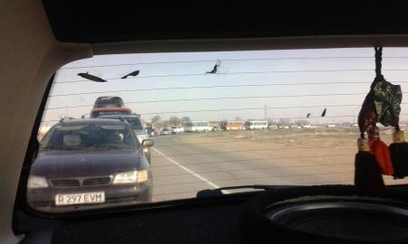 Спасибо за светофор и привет из пробки!