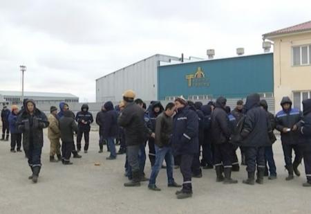 Сотрудники ТОО «Techno Trading» начали забастовку в поселке Жетыбай