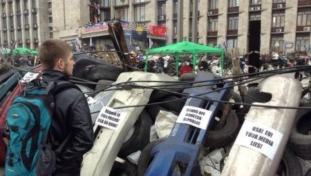 Лидер митингующих в Донецке: Назначенная Киевом власть согласна на референдум о статусе региона