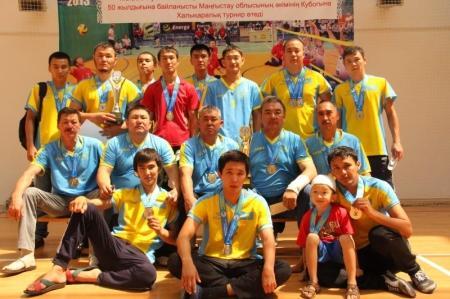 По итогам первого тура чемпионата Казахстана по волейболу сидя команда Мангистау занимает второе место