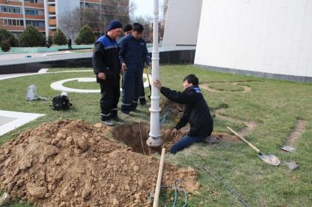 Василий Галкин: До конца недели фонари  возле  мемориала «Вечный огонь» будут заменены на новые