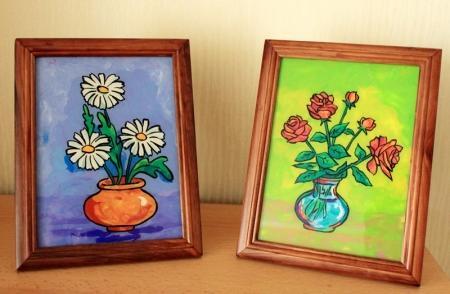 Пластилинография — картины на стекле