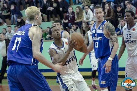 Баскетбольный клуб «Каспий» одержал первую победу в серии за третье место Национальной лиги РК